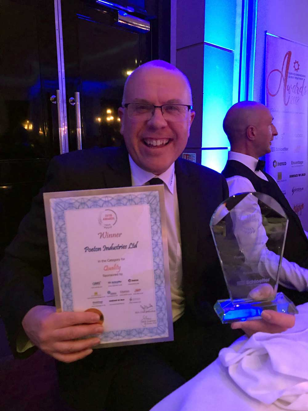 Group Quality Assurance manager with quality award and certificate at SEA Award