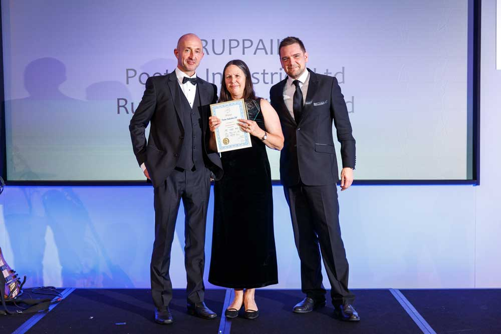 Poeton staff presented with environmental category award and certificate as SEA award