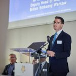 Jason Rheinberg Deputy Head of Mission at the British Embassy Warsaw speaking at the Poeton Polska launch
