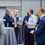 Guests networking at Poeton Polska launch event