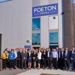 Guests outside Poeton Polska factory