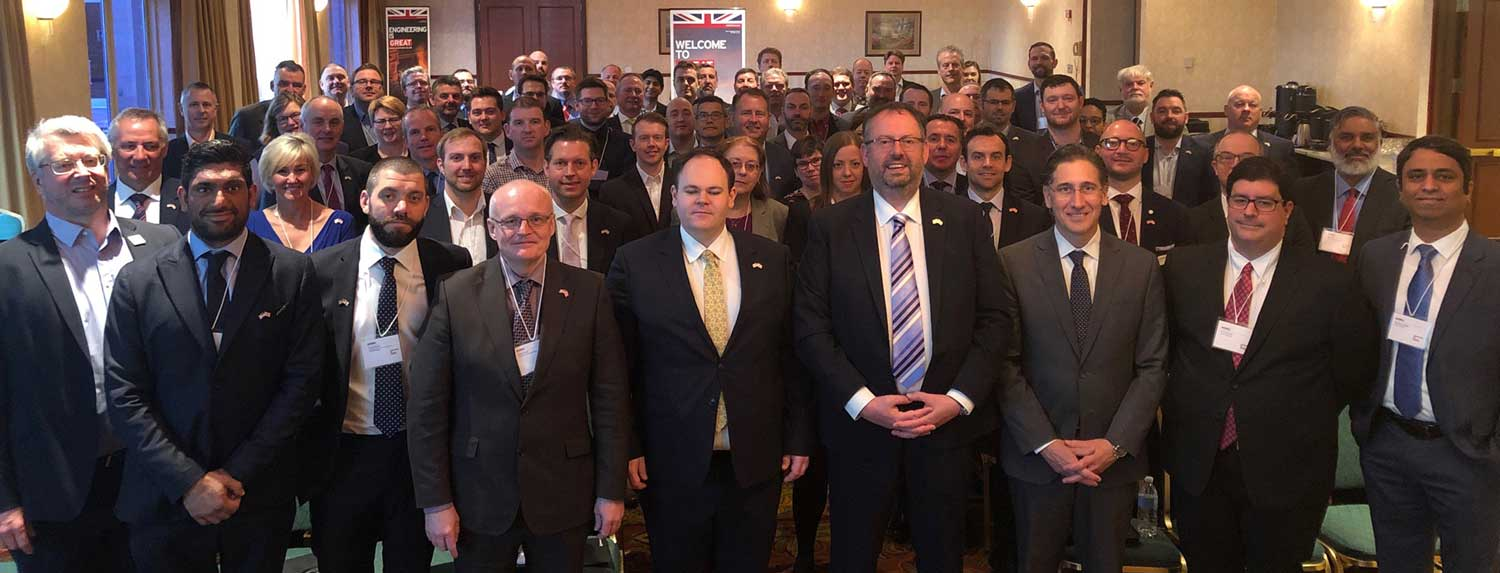 Group of people at Collins Aerospace supplier day