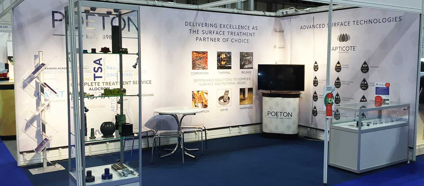 Poeton stand at Advanced Engineering 2018