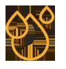 Orange droplets logo