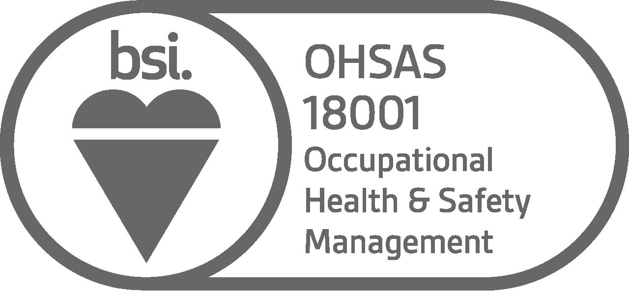 BSI OHSAS 18001 Occupational Health & Safety Management logo