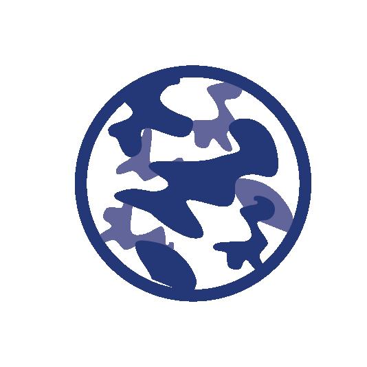 Camouflage paint logo