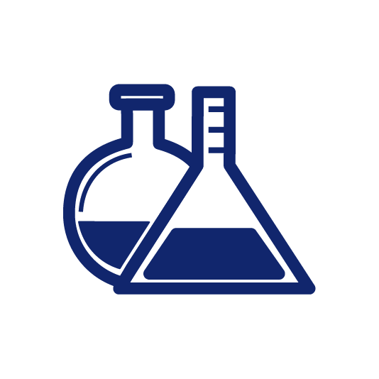 Chemical bottles icon
