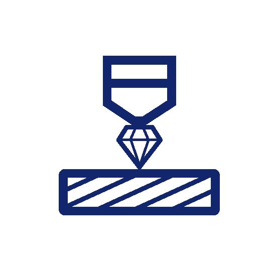 Diamond hardness testing icon