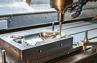 Machining of a mould tool part