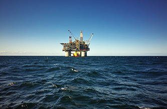 Oil & Gas rig in the middle of the ocean