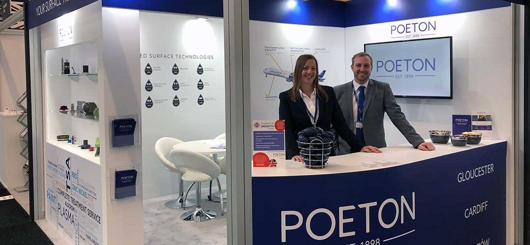 Poeton staff on exhibition stand at Paris Air Show
