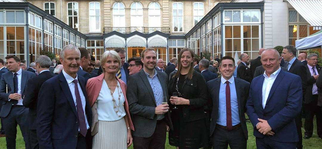 Poeton's owners, directors and sales managers at ADS reception at Paris Air Show
