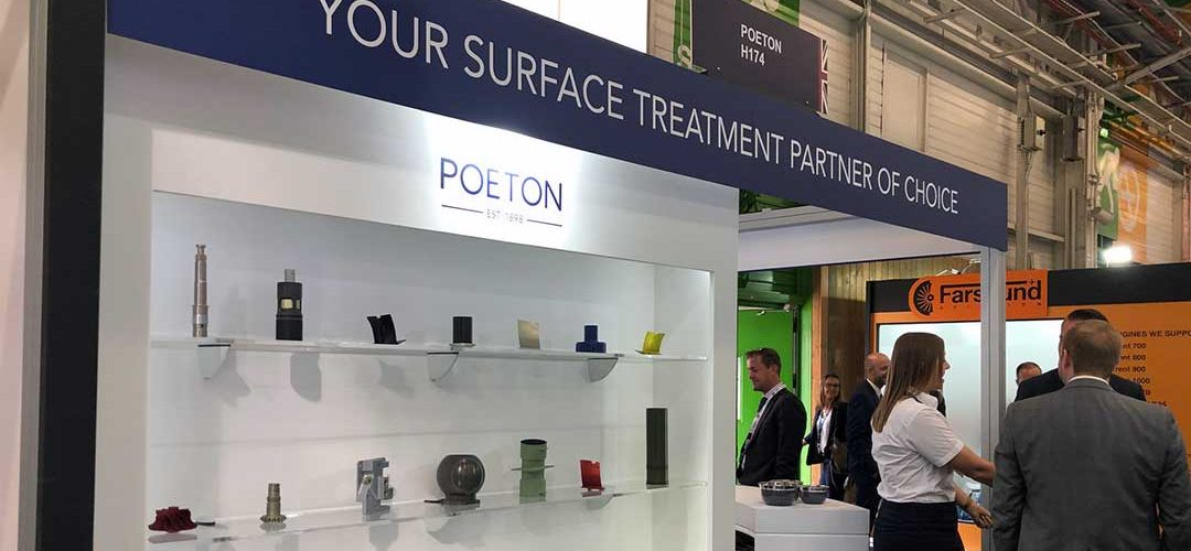 Poeton sample parts displayed at Paris Air Show